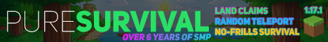 PureSurvival - [ SMP || 1.17.1 || Land Claims || Random Teleport || 6+ Years Online! ]