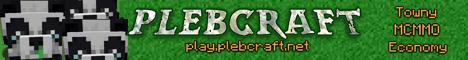 Plebcraft - A small Towny, McMMO and custom development community server - No donations ever