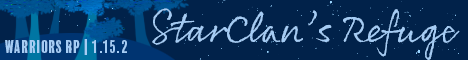 StarClan's Refuge [Warrior Cats Roleplay Server][1.15.2]