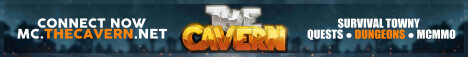 The Cavern | Towny Survival, Slimefun, Dungeons, Peaceful Community