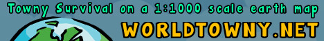 WorldTowny 1:1000 Scale Earth Map Server