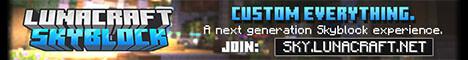 LunaSkyblock | 1.17.1 | Custom Mobs | Custom Bossfights | Custom Gear | Dungeons