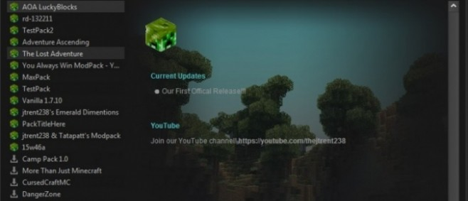 Popular Mod : jtrent238 Minecraft Launcher by jtrent238