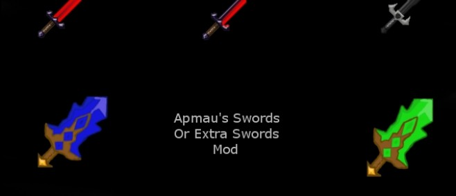 Popular Mod : Sword's From Aphmau's Roleplay Mod 1.8.9 by Mario985_Apple