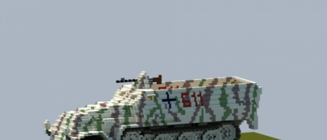 Popular Project : Minecraft Giant Sd.Kfz. 251 by sassy1356