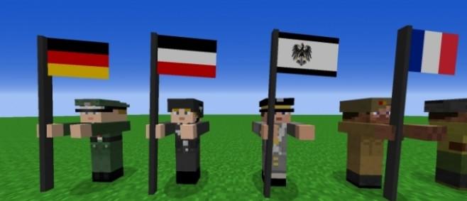 Popular Mod : Wolff's Flag Pack 1.3 for Flan's mod by HeinrichWolff