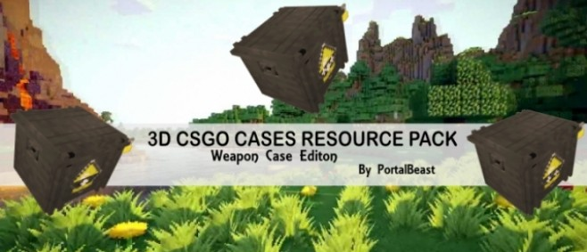 Popular Texture Pack : CSGO Weapon Case Edition Resource Pack [1.10+] by PortalBeast