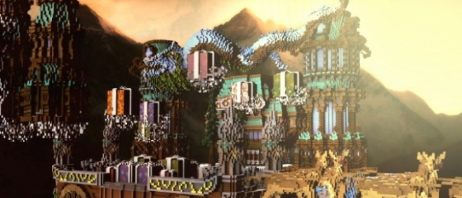 Popular Project : Hidden Kingdom Of The Sky - Skyblock Map by Eirenes