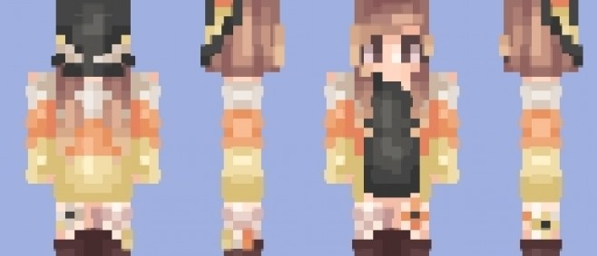 Popular Skin : εժεռ- Candy Corn Witch // Requests Now Closed no more pls by Eden_