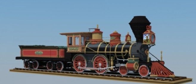 Popular Project : Central Pacific #173 4-4-0 American Steam Locomotive by WalschaertsBuilds