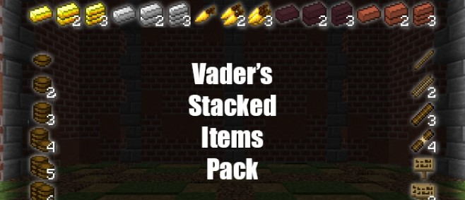 Popular Texture Pack : [16x16] Vader's Stacked Items Pack - Stack your items with Optifine! by Vaderman24
