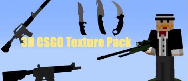 Popular Texture Pack : 3D CSGO Texture Pack 1.11! by Fizzy Chickens