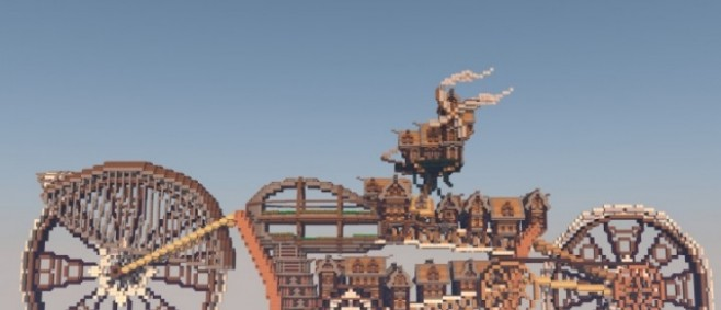 Popular Project : Motorbike City Steampunk by PixelGamePL