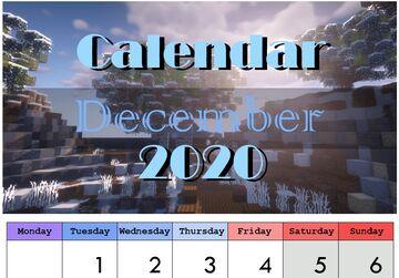Printable Calendar 2020 Download Minecraft Blog