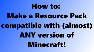 How to: Convert Minecraft Texture Packs to (almost) ANY version! - popreel pog Minecraft Blog