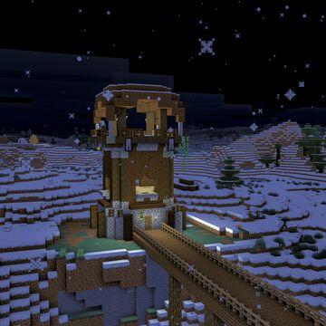 Minecraft Winter Snowing Tundra Cinemagraph (8k 60fps Animation) Minecraft Blog