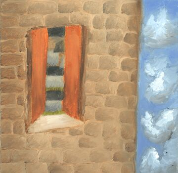 """Oil Painting """"Tower To The Opposite World"""" Minecraft Blog"""