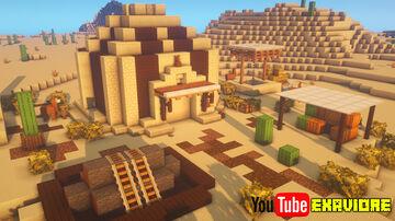 My Simple Survival Desert Base Design! (Tutorial) Minecraft Blog