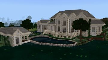 Minecraft White Estate House Tour (Interior Incomplete) Minecraft Blog