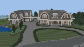Minecraft Landscaping The Coastal Style Mansion Minecraft Blog