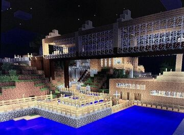Extended mystica base bridge from mystica to Ozralia city. Minecraft Blog