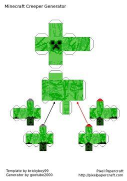 Refract Creeper Papercraft Minecraft Blog
