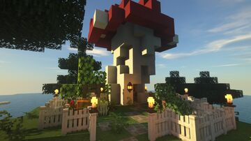 Mushroom House Build Minecraft Map & Project