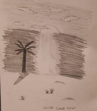 Island Sunset Sketch Minecraft Blog