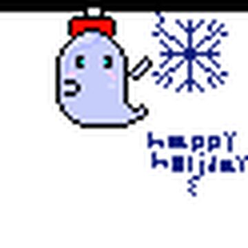 ghost chrismas themed Minecraft Blog