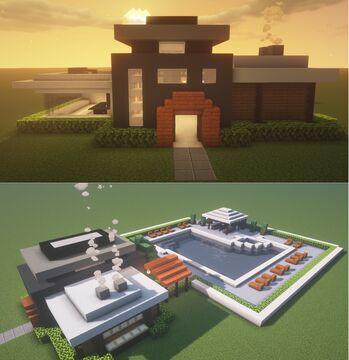 My Modern House Design Tutorial! I Love this one :) Minecraft Blog