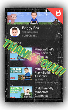 """Thank You """"Baggy Box"""" for Subscribing to the General!!!! Minecraft Blog"""