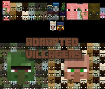 Adapted Villagers Logo Minecraft Blog