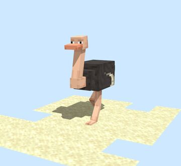 Animated Ostrich Model Minecraft Blog