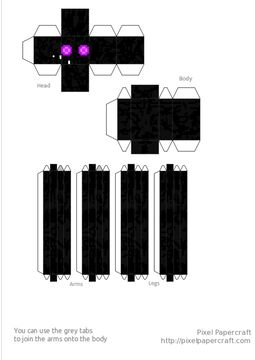 Refract Enderman Papercraft Minecraft Blog