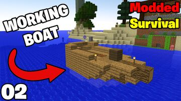 I Built A WORKING BOAT In My MODDED MINECRAFT World Episode 2 Minecraft Blog