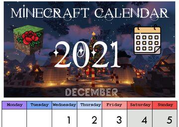 Printable Calendar 2021 Minecraft Blog