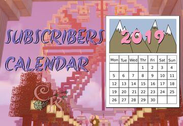 ✰ Subscribers Calendar 2019 CaraRose ✰ Minecraft Blog