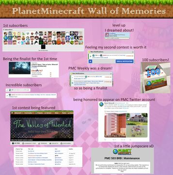 ❀ My PLanetMinecraft Wall of Memories ❀ Minecraft Blog