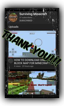"""Thank You """"Surviving Minecraft""""!!! Minecraft Blog"""