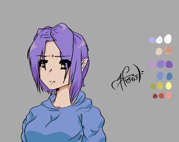 -=Purple Haired, half elf, blue hoodie girl=- Minecraft Blog