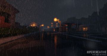 "Wallpaper #5 ""Rain & Lights"" Minecraft Blog"
