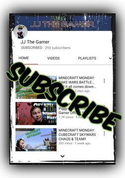 "Thank you, ""JJ The Gamer""!!! Minecraft Blog"
