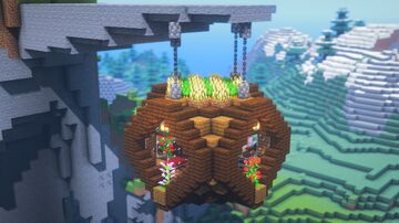 How To Build a Hanging House Minecraft Blog