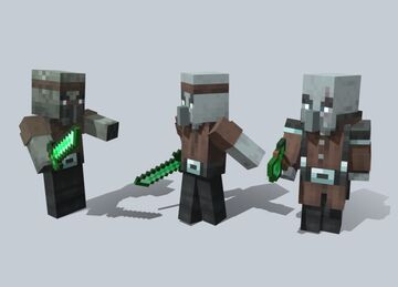 Swapped Worlds - Pillager, Zombie Pillager and Vindicator (Piglins) Minecraft Blog