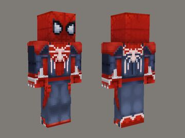 Spiderman PS4 - Advanced Suit Skin (HD) Minecraft Blog