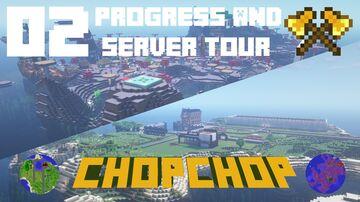 Massive Progress & Shopping District! - The Adventures of ChopChop   AdultsCraft SMP Vanilla - EP 02 Minecraft Blog