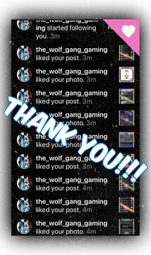 """Thank You """"The _wolf_game_gaming"""" for the Instagram  Love!!! Minecraft Blog"""