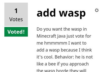 Vote for me pls Minecraft Blog