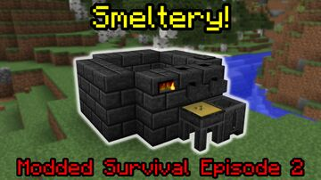 The Smeltery | Modded Survival Episode 2 | minecraft Multiplayer Minecraft Blog