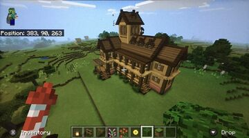 Tutorial Of Large Wooden House In Minecraft Minecraft Blog